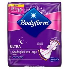 Bodyform Ultra Secure Fit Goodnight Extra Large Pad With Wings