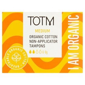 TOTM Organic Cotton Medium Non Applicator Tampon