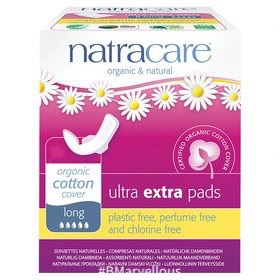 Natracare Organic Cotton Ultra Extra Long Pad With Wings
