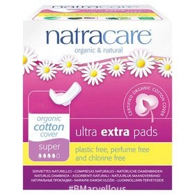 Natracare Organic Cotton Ultra Extra Super Pad With Wings