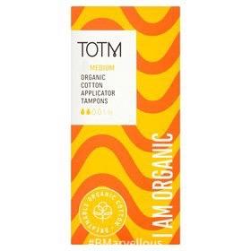 TOTM Organic Cotton Applicator Tampons Medium
