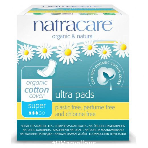 Natracare Organic Cotton Ultra Super Pad With Wings