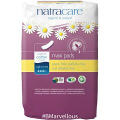 Natracare Organic Cotton Maxi Pad Night Time