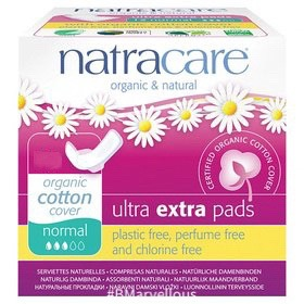 Natracare Organic Ultra Extra Pad Normal With Wings