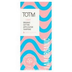 TOTM Organic Cotton Applicator Tampons Light