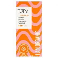 TOTM Organic Cotton Applicator Tampons Super Plus