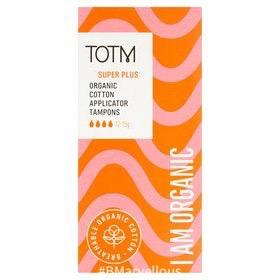 TOTM Organic Cotton Applicator Tampons Super Plus