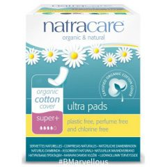 Natracare Organic Ultra Super Plus Pad With Wings