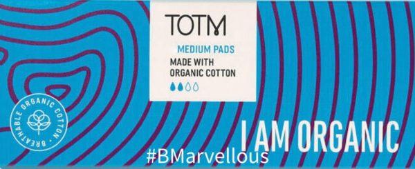 TOTM Organic Cotton Medium Pads