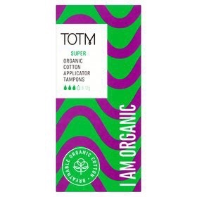TOTM Organic Cotton Super Applicator Tampon
