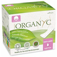 Organyc Cotton Panty Liners Light Flow Plus