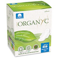 Organyc Cotton Sanitary Pads Moderate With Wings