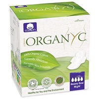 Organyc Cotton Sanitary Pads Heavy Flow Night With Wings
