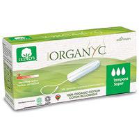 Organyc Non Applicator Tampon Super